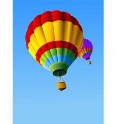 Hot air balloons background vector