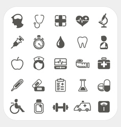 Medical and health icons set vector