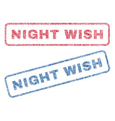 Night wish textile stamps vector