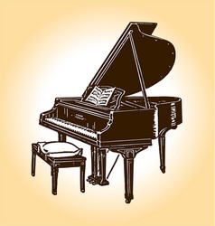 Old timey piano vector