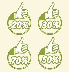 popust thumbs up4 vector image