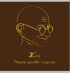 Poster of mahatma gandhi for gandhi jayanti vector