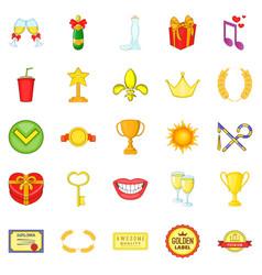 Scholarship icons set cartoon style vector