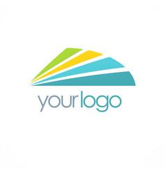 Shape colored shine logo vector
