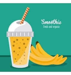 smoothie juice glass drink healthy icon vector image vector image