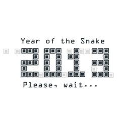 Snake year concept vector