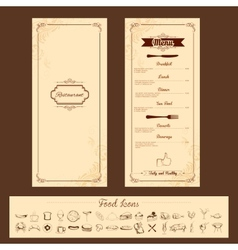 Template for menu card vector