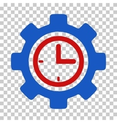 Time setup gear icon vector