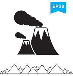 volcano icon isolated vector image