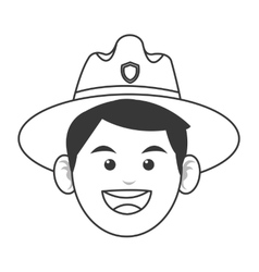 Park ranger icon vector