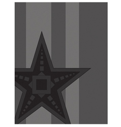Black Star vector image