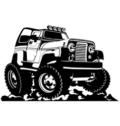 Cartoon jeep vector image