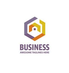 Creative real estate logo vector