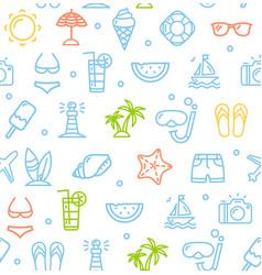 Summer travel recreation holiday pattern vector