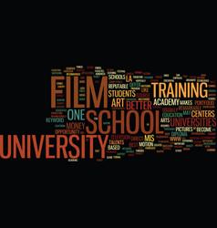 Film school university text background word cloud vector