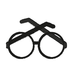 Glasses round frame icon image vector