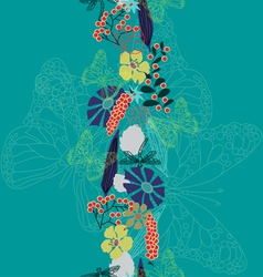 Summer bouquet vector