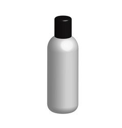 3d bottle on white background 3d white plastic vector