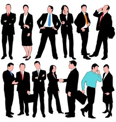 13 business people set vector