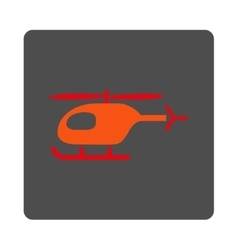 Helicopter rounded square button vector