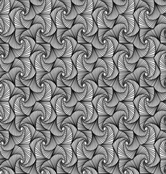 Zentangle pattern black and white ornamental vector