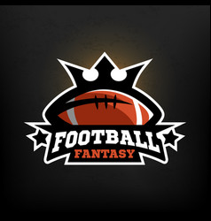 American football fantasy logo vector