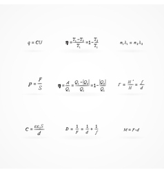 background with equations and formulas vector image