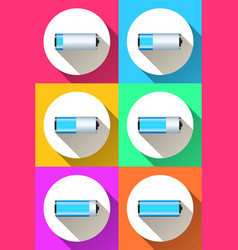 battery icon on the color background vector image