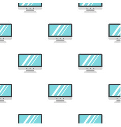Blank computer monitor pattern seamless vector