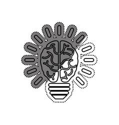 Bulb idea and human brain vector