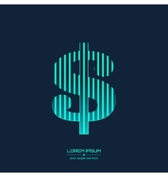 Creative concept icon of dollar for web and vector