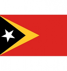 East Timor flag vector image vector image
