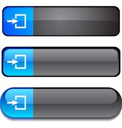Entrance button set vector