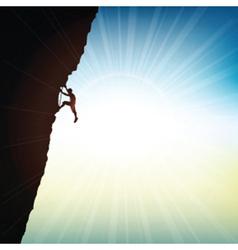 Extreme rock climber vector