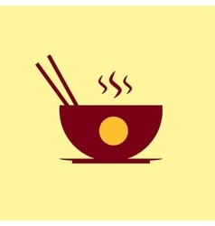 Fast food icon chinese meal pictogram vector