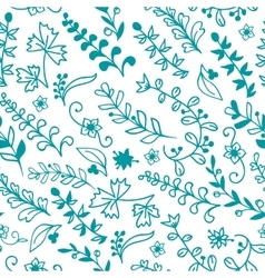 Floral seamless pattern for invitation card vector image