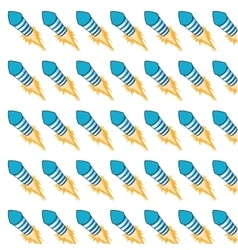 Flying firecracker pattern background vector