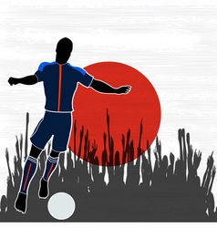 Football Japan vector image vector image