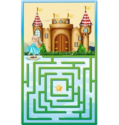 Game template with princess and castle vector
