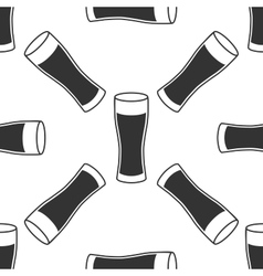 Glass of beer icon seamless pattern on white vector