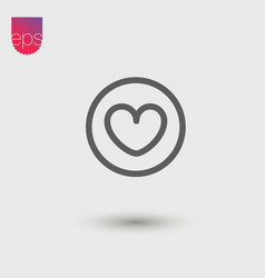 Heart simple icon emblem pictogram clipart vector