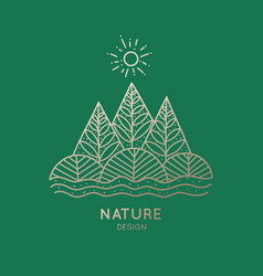 icon nature vector image vector image