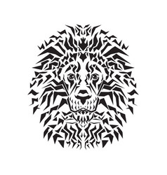 line art of lion head vector image vector image