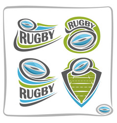 Logo rugby ball vector