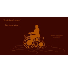 Man and gears as bike vector