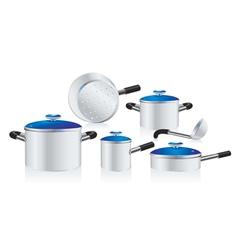 metallic pans vector image vector image
