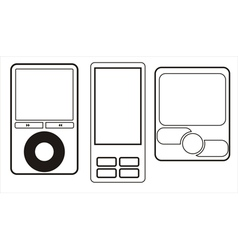 Mobile phone icons set vector image