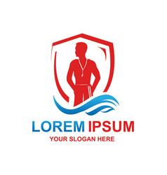 Modern lifegaurd logo vector