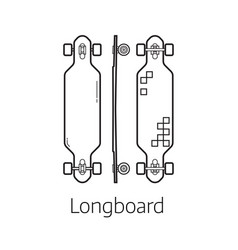 modern long board desk set vector image