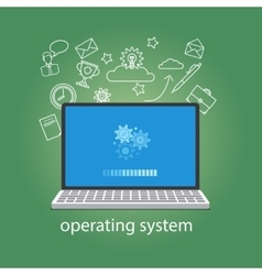 Operating system softwear vector image vector image